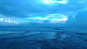 Een Avond in Oceaan stock afbeelding