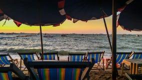 Een Avond op Strand stock foto's