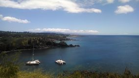 Een baai dichtbij Lahaina, Maui, Hawaï Stock Foto's