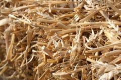 Een baal van hooi of stro stock afbeelding