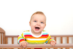 Een baby glimlacht Royalty-vrije Stock Afbeelding