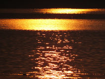 De gouden Achtergrond van het Water Royalty-vrije Stock Foto's