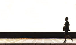 Een backlit affiche die in een eindpost adverteren Stock Fotografie