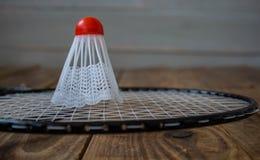 Een badmintonraket en voor een spelbadminton royalty-vrije stock afbeeldingen