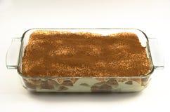 Een bakselschotel van Tiramisu Stock Fotografie