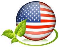 Een bal met de vlag van de V.S. Stock Afbeelding
