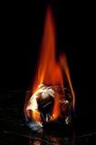 Een bal van document op brand Royalty-vrije Stock Afbeelding