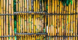 een bamboeomheining royalty-vrije stock afbeeldingen