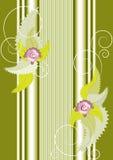 Een banner met bloemen en kolom. Banner.Background Royalty-vrije Stock Fotografie