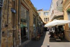 Een bar in zomer in Cyprus royalty-vrije stock afbeelding