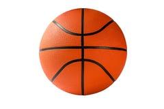 Een Basketbal op wit wordt geïsoleerd dat Stock Afbeelding