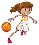 Een basketbalspeler Royalty-vrije Stock Foto's