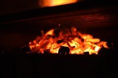 Een BBQ brand Stock Afbeeldingen