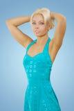 Een beautyful jonge blonde royalty-vrije stock foto's