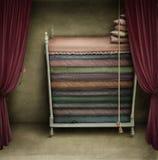 Een bed voor prinsessen royalty-vrije illustratie