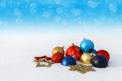 Een beeld met Kerstmisdecoratie Royalty-vrije Stock Afbeeldingen