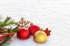 Een beeld met Kerstmisornamenten Stock Afbeeldingen