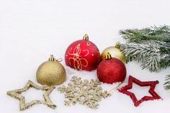 Een beeld met Kerstmisornamenten Royalty-vrije Stock Foto's