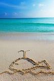 Een beeld op zandwalvis Stock Foto's