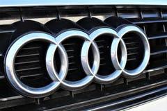 Een beeld van een Audi-embleem - Hameln/Duitsland - 07/18/2017 Royalty-vrije Stock Afbeelding