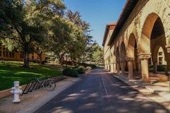 Een beeld van campus van Stanford University, Californië, de V.S. Stock Fotografie