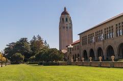 Een beeld van campus van Stanford University, Californië, de V.S. Stock Foto