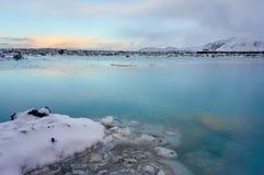 Een beeld van de landschapswinter in IJsland wordt genomen dat royalty-vrije stock foto