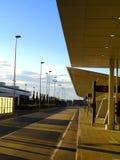 Een beeld van een bushalte Stock Foto's