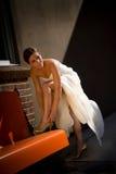 Een beeld van een jonge bruid Royalty-vrije Stock Afbeeldingen