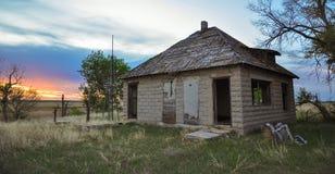 Weinig Huis op de Prairie Stock Fotografie