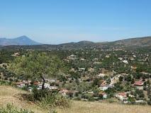 Een beeld van Grieks platteland royalty-vrije stock foto