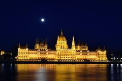 Het Parlement in Boedapest Stock Afbeeldingen