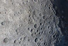 Een beeld van kraters op de oppervlakte van de maan royalty-vrije stock foto's