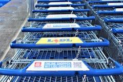 Een beeld van een LIDL-Supermarktembleem - Melle/Duitsland - 08/06/2017 Stock Foto's