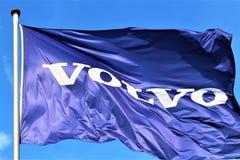 Een Beeld van een Volvo-embleem - Hameln/Duitsland - 07/18/2017 Royalty-vrije Stock Afbeeldingen