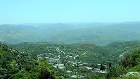 Een beeld voor een dorp in countrside stock afbeelding