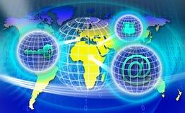 Beveilig het Netwerk van de Wereld Stock Foto