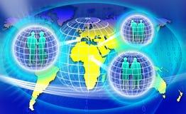 Beveilig het Netwerk van de Wereld Royalty-vrije Stock Fotografie
