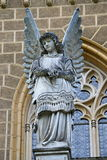 Een beeldhouwwerk van een engel Royalty-vrije Stock Afbeelding