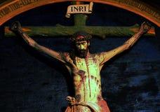 Een beeldhouwwerk van Jesus-Christus binnen Kerk Valongo Royalty-vrije Stock Foto