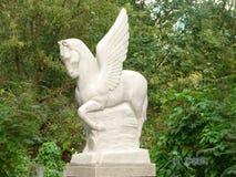 Een beeldhouwwerk van Pegasus royalty-vrije stock foto
