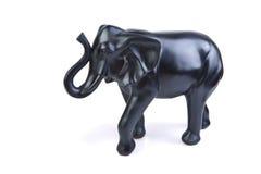 Een beeldje van geïsoleerd elefant stock afbeeldingen