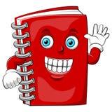Een beeldverhaal gelukkig boek met grote glimlach vector illustratie