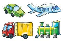 Een beeldverhaal van vervoer royalty-vrije illustratie