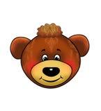 Een beer, teddybeer, Masker, Carnaval, de gebeurtenissen van kinderen, beeldverhaal Royalty-vrije Stock Foto's