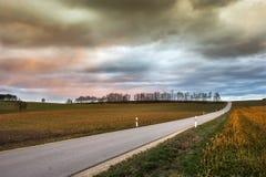 Stormachtig Landschap Stock Foto