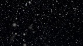Een Bekleding voor een Sneeuweffect Zijn Echte Sneeuwval stock footage