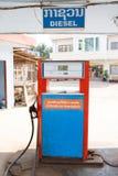 Een benzinepost in Vientiane, Laos Stock Foto
