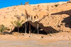 Een Berber-tent in Matmata, Tunesië stock afbeeldingen