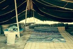 Een Berber-tent in Matmata, Tunesië stock afbeelding